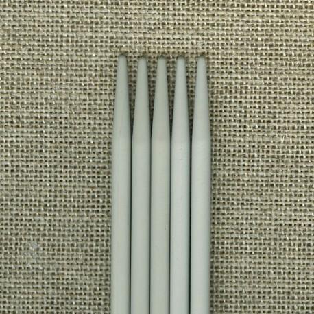 Aiguilles à tricoter double pointes en métal, 20 cm