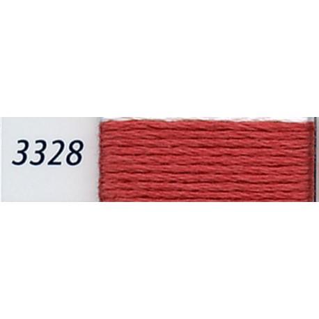 DMC mouliné embroidery thread, col. 3328
