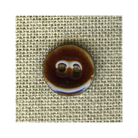 Enamelled little coconut button, col. Fig