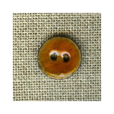 Enamelled little coconut button, col. Marmalade