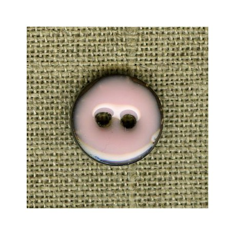 Enamelled little coconut button, col. Princess