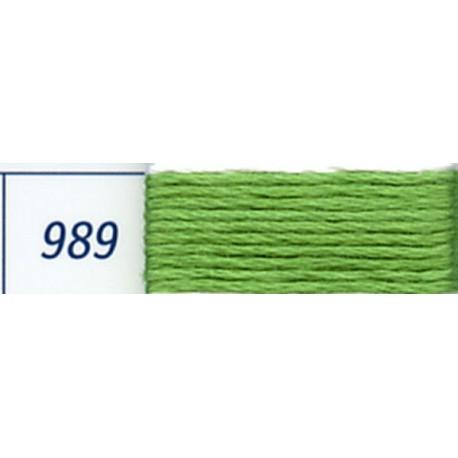 DMC mouliné embroidery thread, col. 989