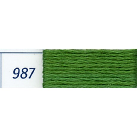 DMC mouliné embroidery thread, col. 987