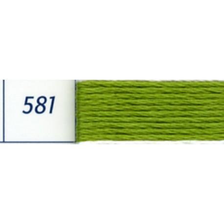 DMC mouliné embroidery thread, col. 581