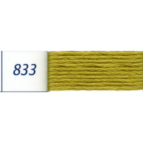 DMC mouliné embroidery thread, col. 833
