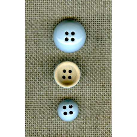 Wood reversible button Bells, Sky lacquered