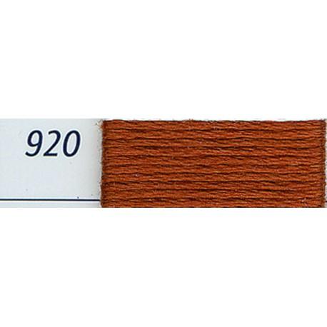 DMC mouliné embroidery thread, col. 920
