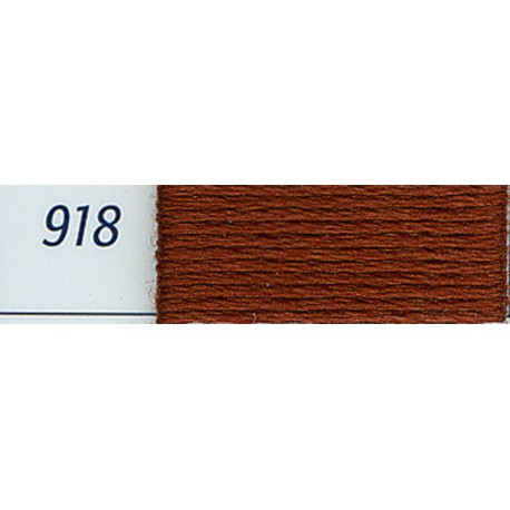 DMC mouliné embroidery thread, col. 918