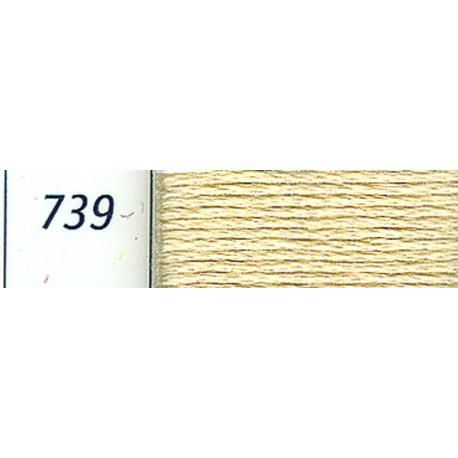 DMC mouliné embroidery thread, col. 739