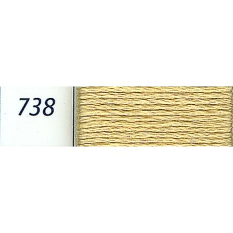 DMC mouliné embroidery thread, col. 738