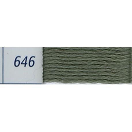 DMC mouliné embroidery thread, col. 646