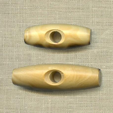 Bouton buis pour duffle-coat, col.naturel