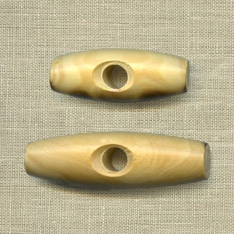 Boxwood button, for duffle-coat, col. Natural