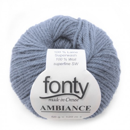 FONTY wool knitting yarn, qual.AMBIANCE, col.Horizon 314