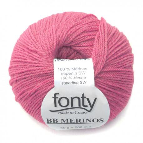 Laine à Tricoter BB MERINOS de Fonty, col. Pasteque 858