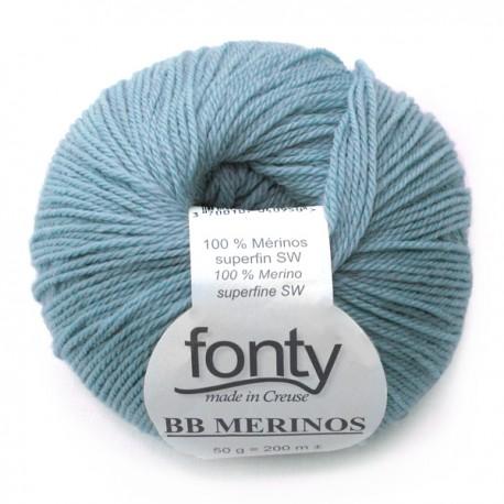 FONTY wool knitting yarn, qual.BB MERINOS, col. Aqua 888