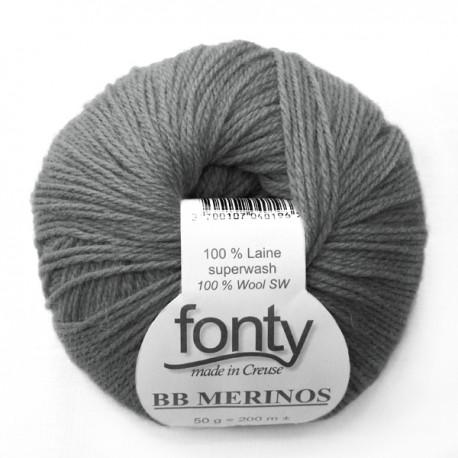 FONTY wool knitting yarn, qual.BB MERINOS, col. Mist 866