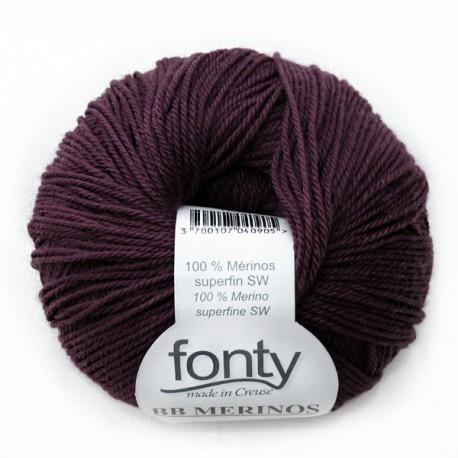 Laine à Tricoter BB MERINOS de Fonty, col. Prune 899