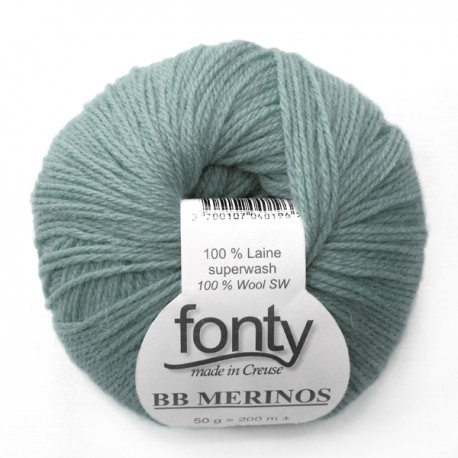 FONTY wool knitting yarn, qual.BB MERINOS, col. Peacock 897