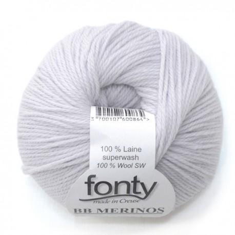 FONTY wool knitting yarn, qual.BB MERINOS, col. Pearl 817