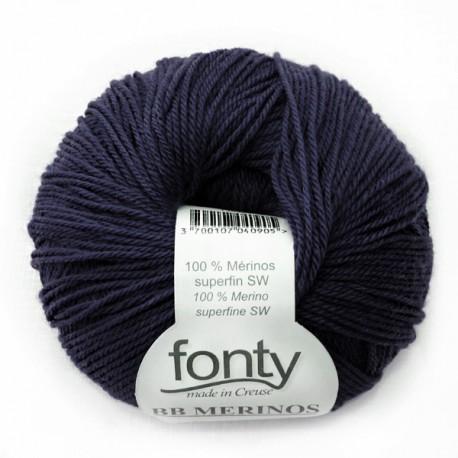 Laine à Tricoter BB MERINOS de Fonty, col. Bleu nuit 861