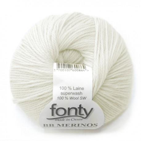 FONTY wool knitting yarn, qual.BB MERINOS, col. Cream 863
