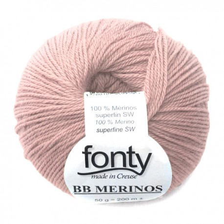 FONTY wool knitting yarn, qual.BB MERINOS, col. Angel skin 846
