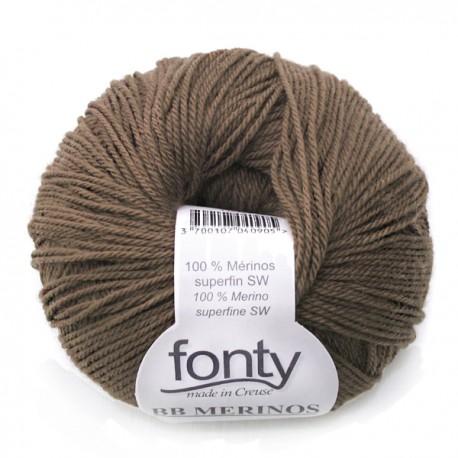 FONTY wool knitting yarn, qual.BB MERINOS, col. Milk jam 848