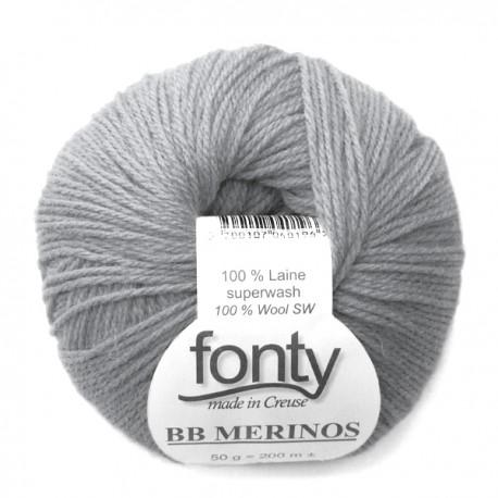 FONTY wool knitting yarn, qual.BB MERINOS, col. Steel 881
