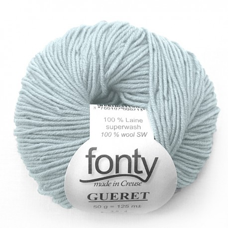 FONTY merino knitting yarn, qual.GUERET, col. Ice-blue 002