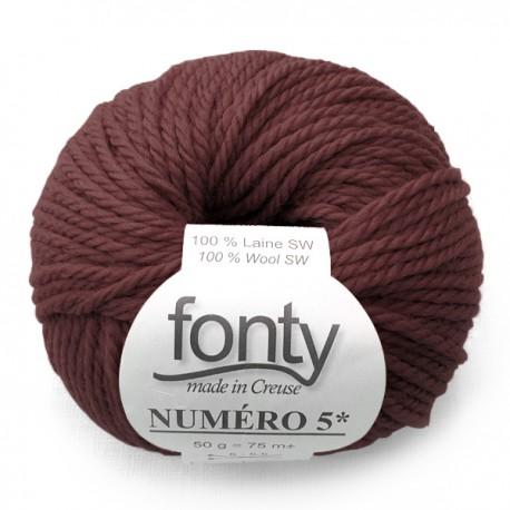 Laine à Tricoter NUMERO 5 de Fonty, col.griotte 203