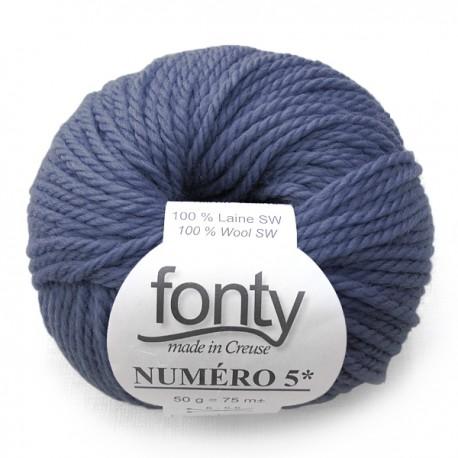 FONTY wool knitting yarn qual. NUMERO 5, col.Thistle 217