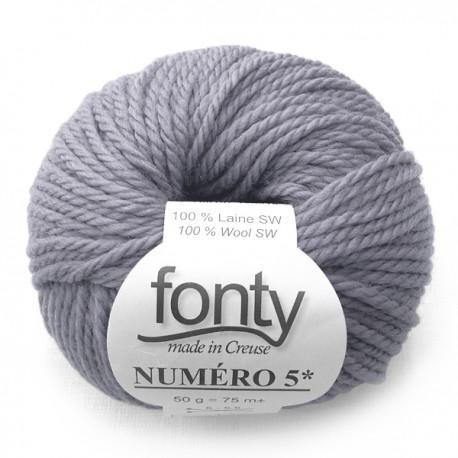 FONTY wool knitting yarn qual. NUMERO 5, col.Storm 209