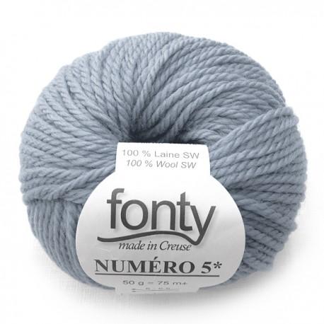 Laine à Tricoter NUMERO 5 de Fonty, col. Bleu fané 216