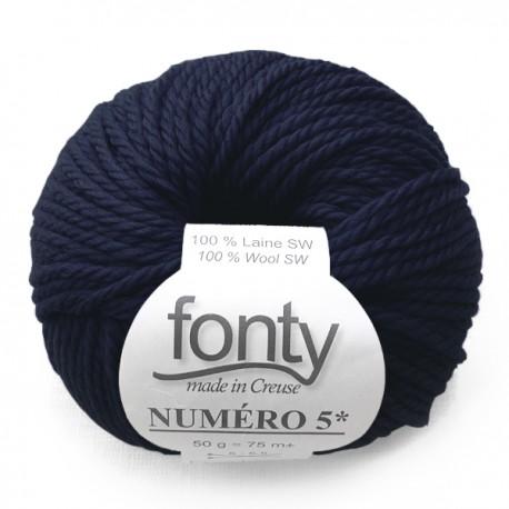 FONTY wool knitting yarn qual. NUMERO 5, col. Admiral 212