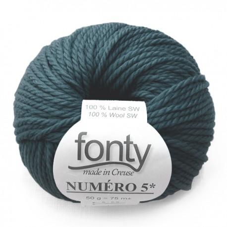 Laine à Tricoter NUMERO 5 de Fonty, col. Mer du Nord 236