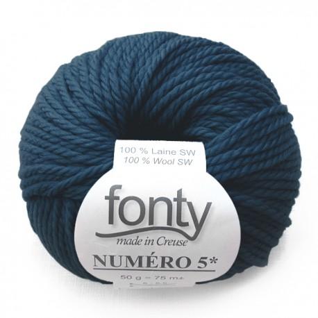 FONTY wool knitting yarn qual. NUMERO 5, col. American blue 237
