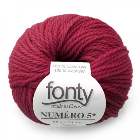 FONTY wool knitting yarn qual. NUMERO 5, col. Thyrien 230
