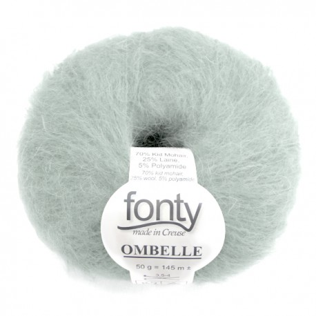 FONTY wool knitting yarn, qual. Ombelle, col. Water Beads 1048