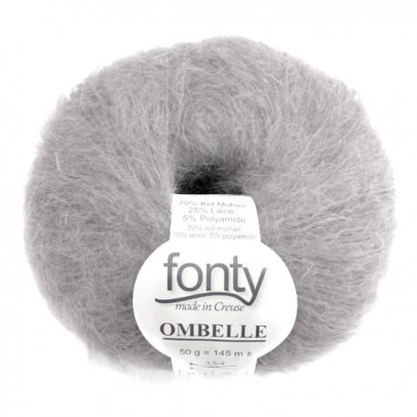 FONTY wool knitting yarn, qual. Ombelle, col. Steam 1050