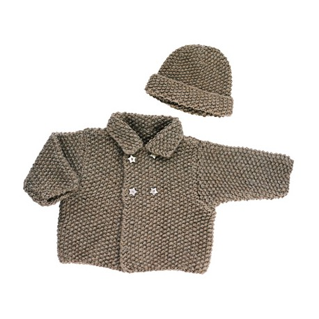 CITRONILLE knitting pattern N° 4, Vest and bonnet.