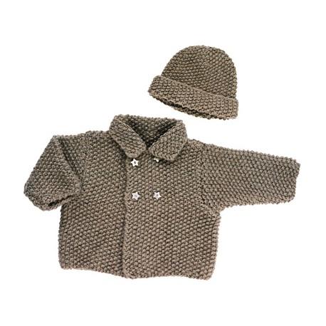 Modèle Tricot Citronille N° 4, veste et bonnet.