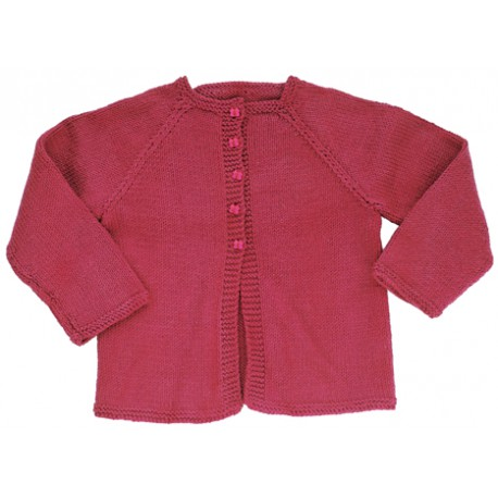 CITRONILLE knitting pattern N°5, Raglan cardigan .
