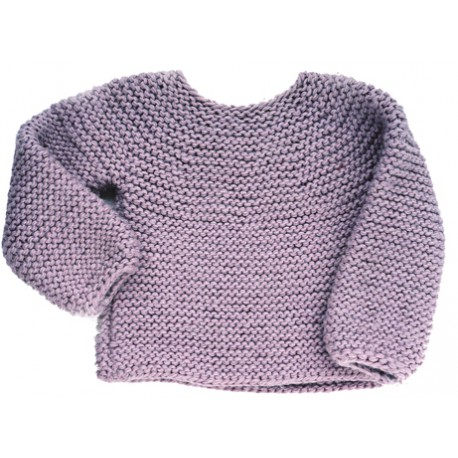 CITRONILLE knitting pattern N°12,Round-necked jumper.