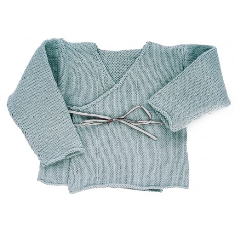 CITRONILLE knitting pattern N?16, Cross-over cardigan. - La Mercerie Parisienne