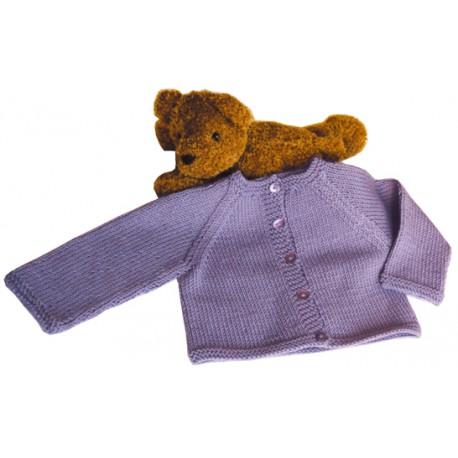 CITRONILLE knitting pattern N°17, Raglan Cardigan