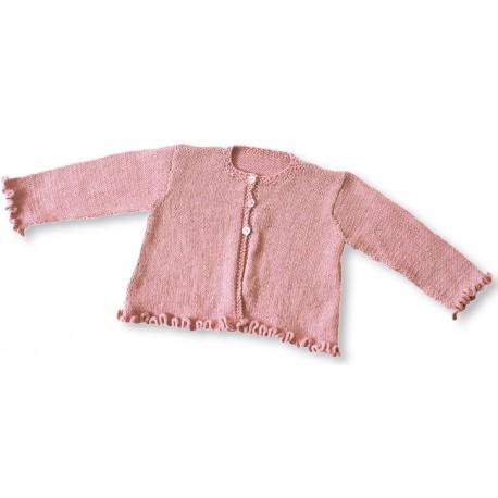 CITRONILLE knitting pattern N°24b, Frilly cardigan.
