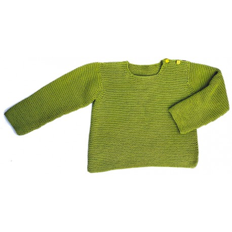 CITRONILLE knitting pattern N°25, Buttoned jumper.