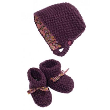 CITRONILLE knitting pattern N°38, Bonnet and Slippers