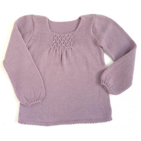 CITRONILLE knitting pattern N°44, Smock-necked tunic.